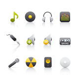 audio wyposażenia ikony set Zdjęcia Stock