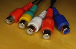 Conectores RCA Foto de archivo libre de regalías