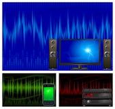 Audio y equipo de la TV Foto de archivo