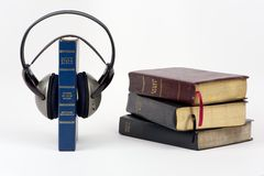 Audiobibel Lizenzfreies Stockfoto