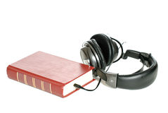 Audiobook. Concept image of an audiobook, isolated against a white background Royalty Free Stock Photography