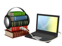 Audiobook. Conceptual image - new technologys. Audiobook Stock Photo