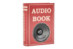 Audiobook concept, 3D rendering Royalty Free Stock Image