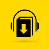 Audiobook download vector icon Royalty Free Stock Photo