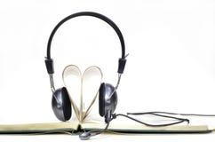 Audiobook för förälskelse Arkivbild