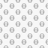 Audiobook minimal pattern Royalty Free Stock Images