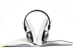 Audiobook ouvert Photos libres de droits