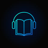 Audiobook vector blue icon Stock Photography
