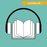 Audiobook, vector icon. Stock Images