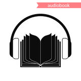 Audiobook, vector icon. Audiobook icon. vector illustration. A book and headphones. Concept Stock Image