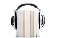 Audiobookconcept - luister aan uw boeken in HD-kwaliteit stock foto