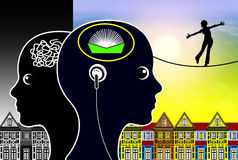 Audiobooks明白您的头脑 库存照片