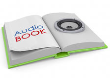Audiobooks Concept -3D Stock Images