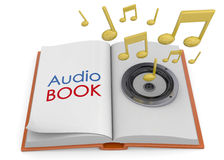 Audiobooks Concept -3D Royalty Free Stock Images