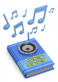 Audiobooks Concept -3D Royalty Free Stock Photography