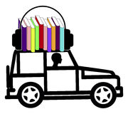 Audiobooks while driving Stock Photography