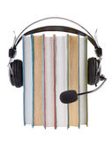 Audiobooks library Royalty Free Stock Photography
