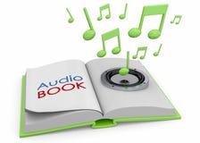 Audiobooks pojęcie -3D Fotografia Royalty Free