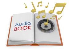 Audiobooks pojęcie -3D Obrazy Royalty Free
