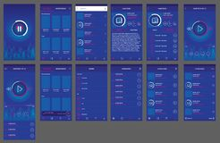 Audiobuch App ui Entwurf android vektor abbildung
