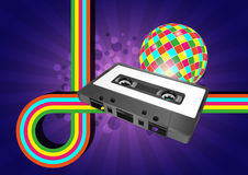 Audiocassette graphic Royalty Free Stock Image