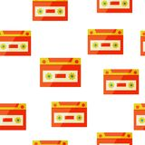 Audiocassette seampless background Royalty Free Stock Photography