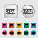 Audiocassette single icon. Royalty Free Stock Photography