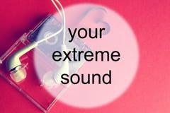 Audiocassette tła dźwięk Fotografia Stock