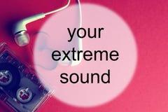 Audiocassette tła dźwięk Obrazy Stock