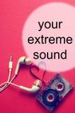 Audiocassettebakgrundsljud Royaltyfri Bild