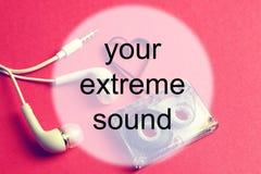 Audiocassettebakgrundsljud Arkivfoto