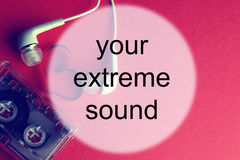 Audiocassettebakgrundsljud Arkivbilder