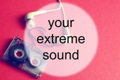 Audiocassettebakgrundsljud Royaltyfri Foto