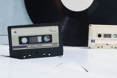 Audiocassettes en vinyl Stock Foto