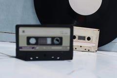 Audiocassettes en vinyl Stock Foto's