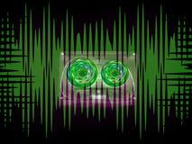 Audiocassettes voor registreertoestel vector illustratie