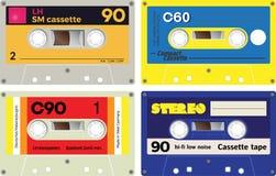 Audiocassetteverslagen Stock Foto's