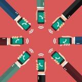 Audioconferência no estilo liso Foto de Stock