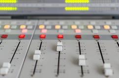 Audioconsole Royalty-vrije Stock Foto's