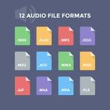 Audiodossierformaten Royalty-vrije Stock Fotografie