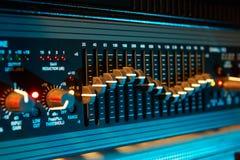 Audioentzerrer stockfotos