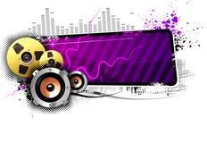 Audiofahne Stockbild