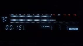 Audiogeräte des Studios - Audiospieler - messen Sie Studioton stock video