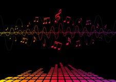 Audiogolven & Muzieknota's Royalty-vrije Stock Foto