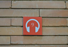 Audioguide point. In a museum in Spain stock photography