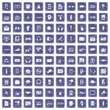 100 Audioikonen stellten Schmutzsaphir ein Stockbild