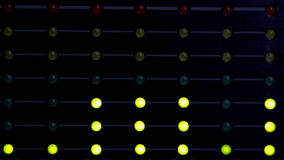 Audioindikatoren des niveaus LED stock video footage