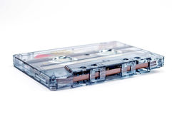 Audiokassette in einem weißen Hintergrund Stockfoto