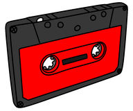 Audiokassette, Illustration Lizenzfreie Stockbilder