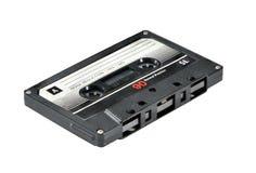 Audiokassette lokalisiert auf weißem Hintergrund Lizenzfreies Stockbild